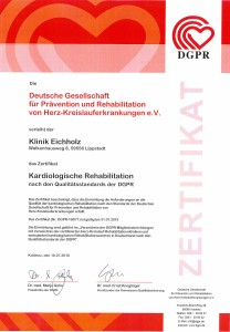 20160719_Zertifikat Kardiologische Rehabilitation DGPR