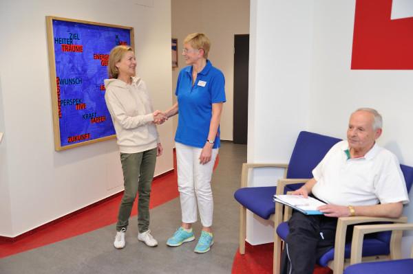 Begrüßung durch unsere Mitarbeiter zu Beginn ihres Aufenthalts in der Klinik Eichholz